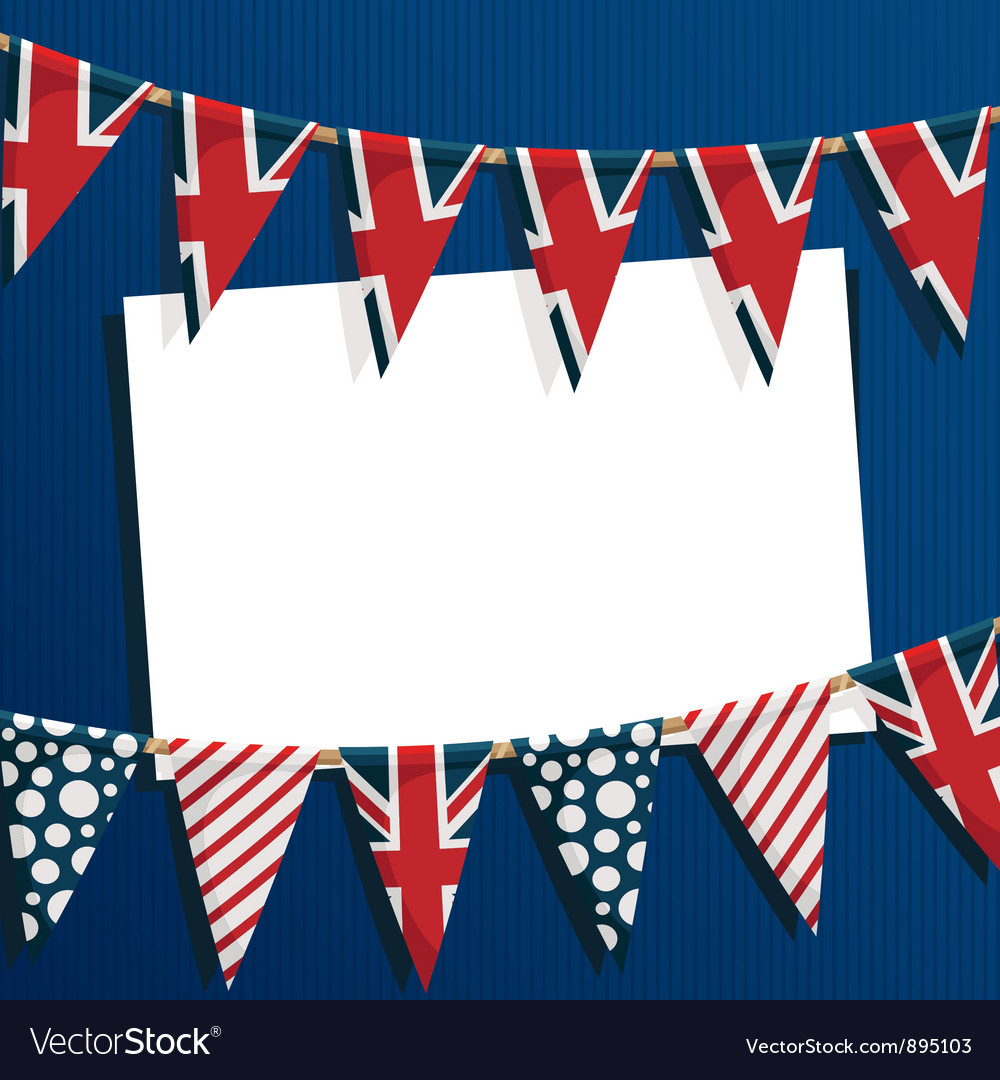 Uk party card vector | Price: 1 Credit (USD $1)