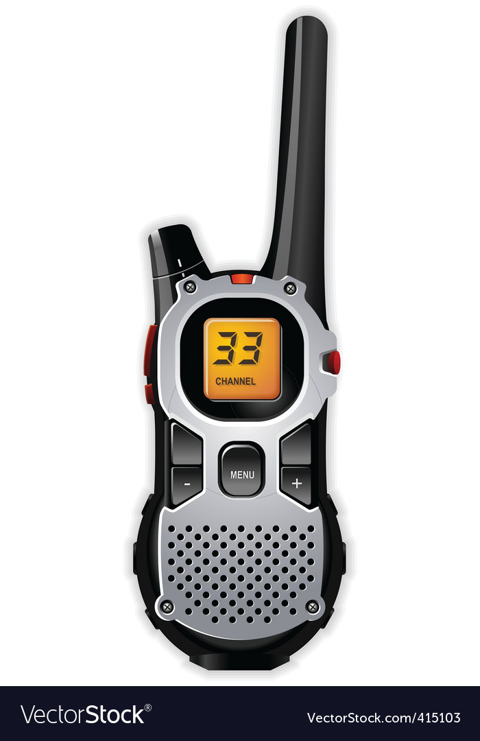 Walkie-talkie vector | Price: 3 Credit (USD $3)
