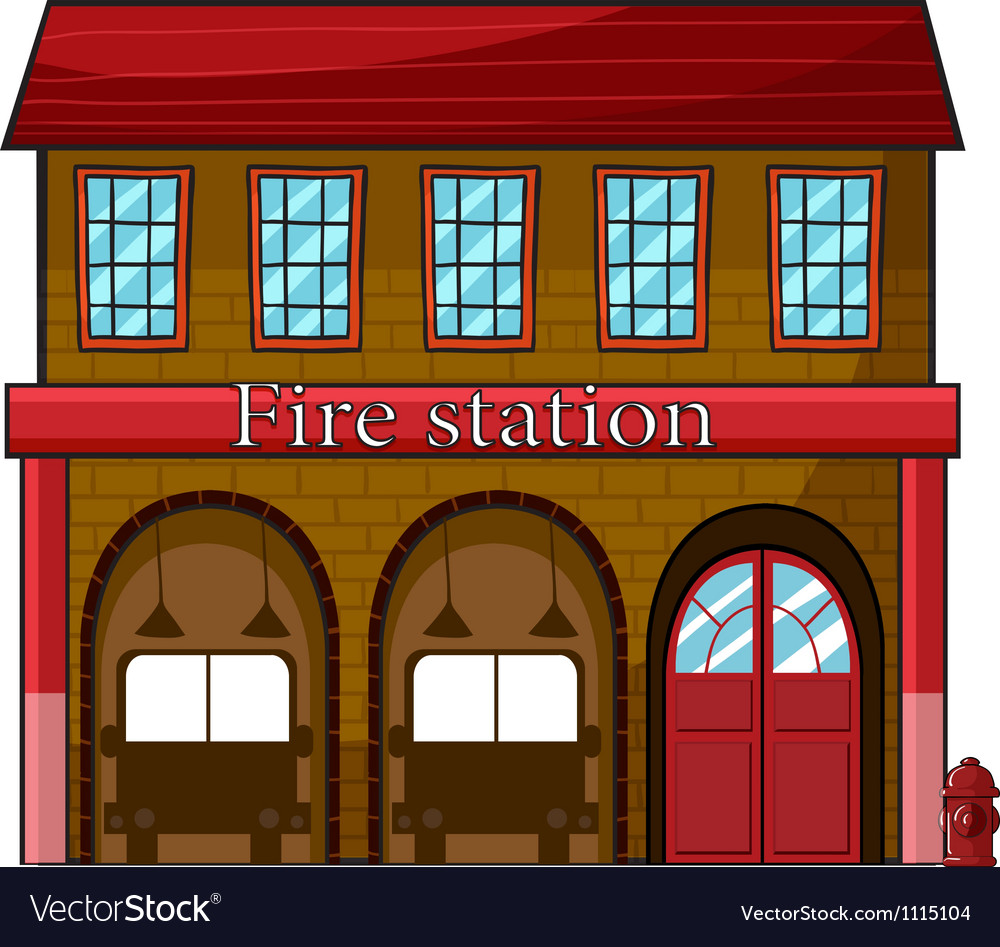 A fire station vector | Price: 1 Credit (USD $1)