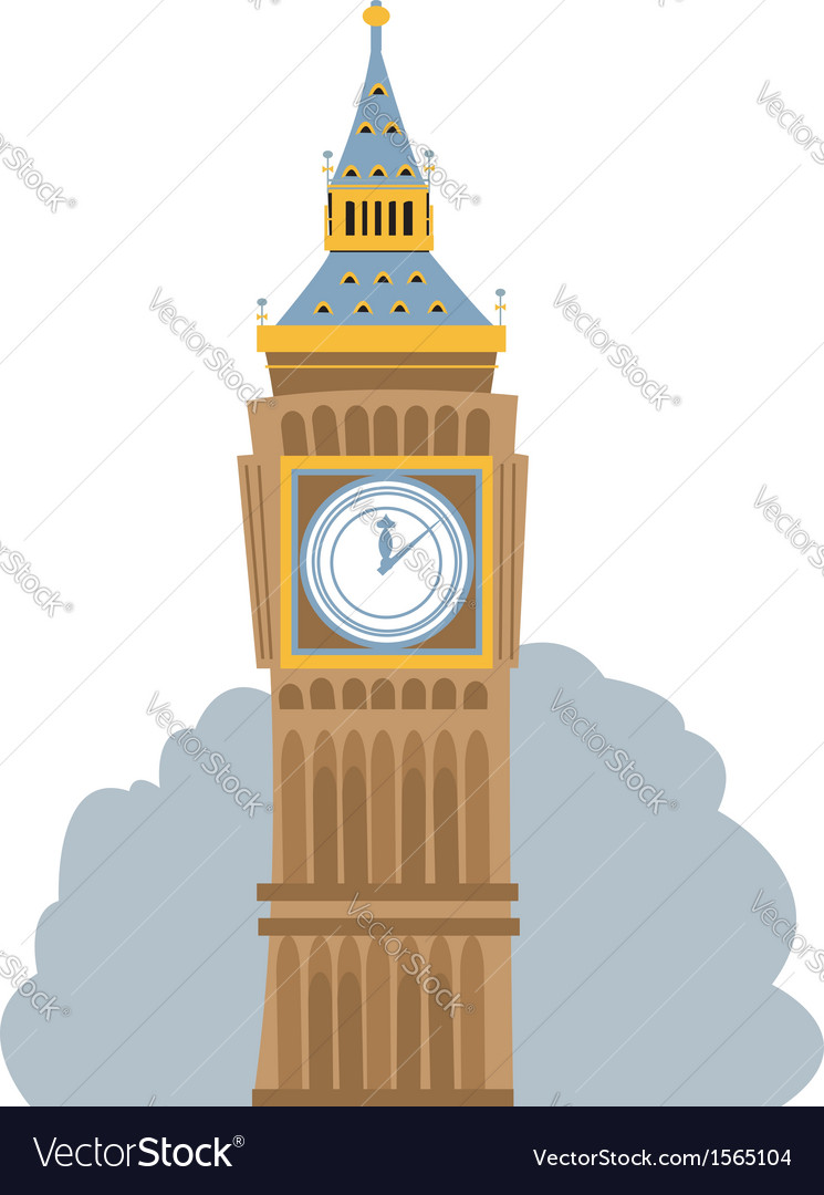 Big ben vector | Price: 1 Credit (USD $1)