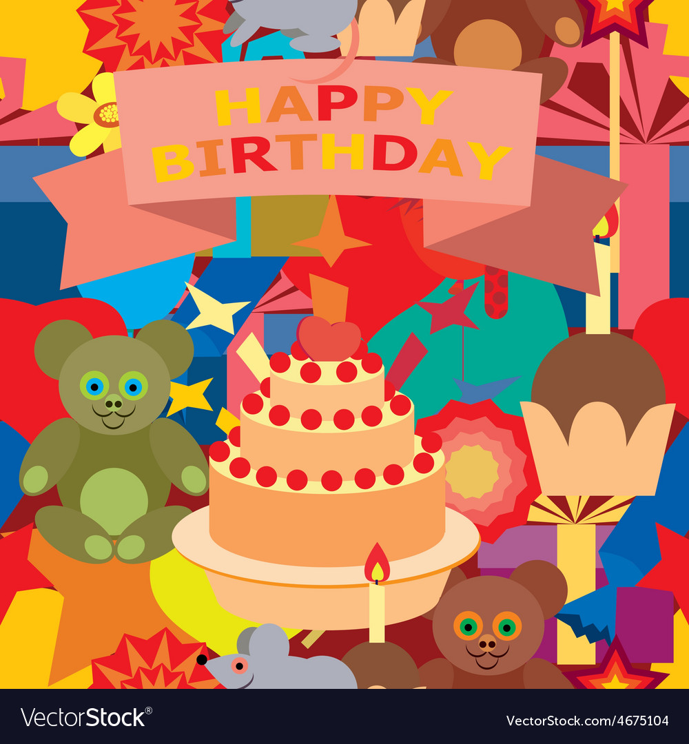 Card for birthday greetings vector | Price: 1 Credit (USD $1)