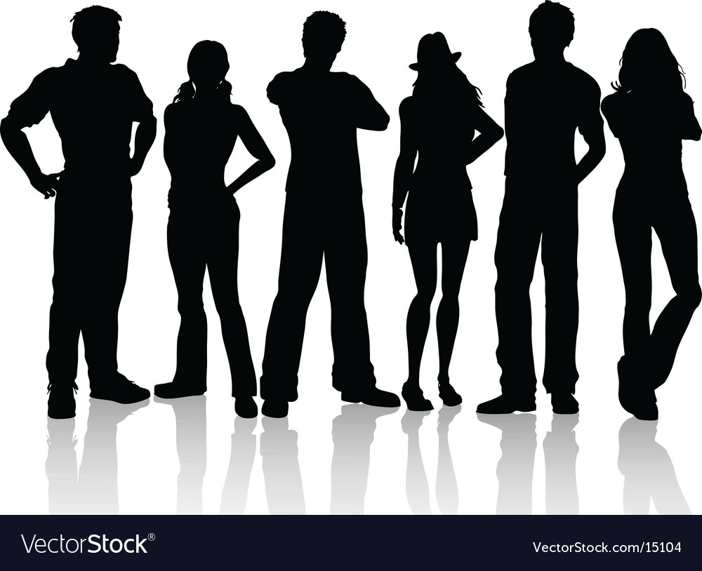 Casual people vector | Price: 1 Credit (USD $1)