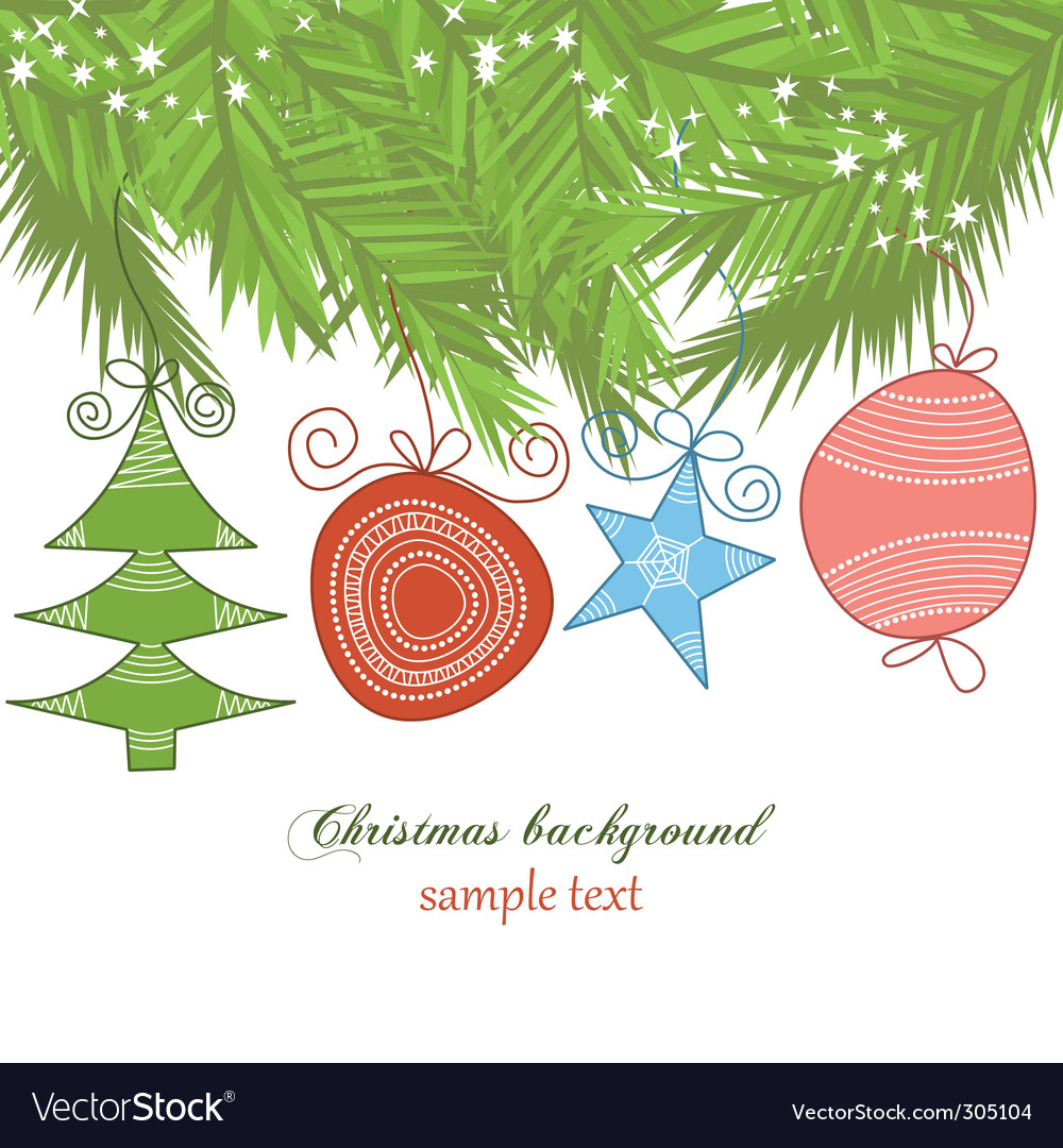 Cute christmas background vector | Price: 1 Credit (USD $1)