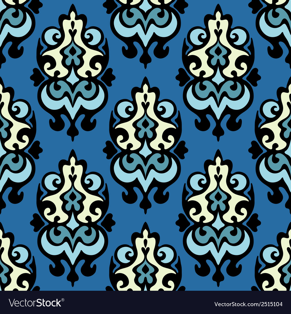 Damask seamless ornamental vector | Price: 1 Credit (USD $1)