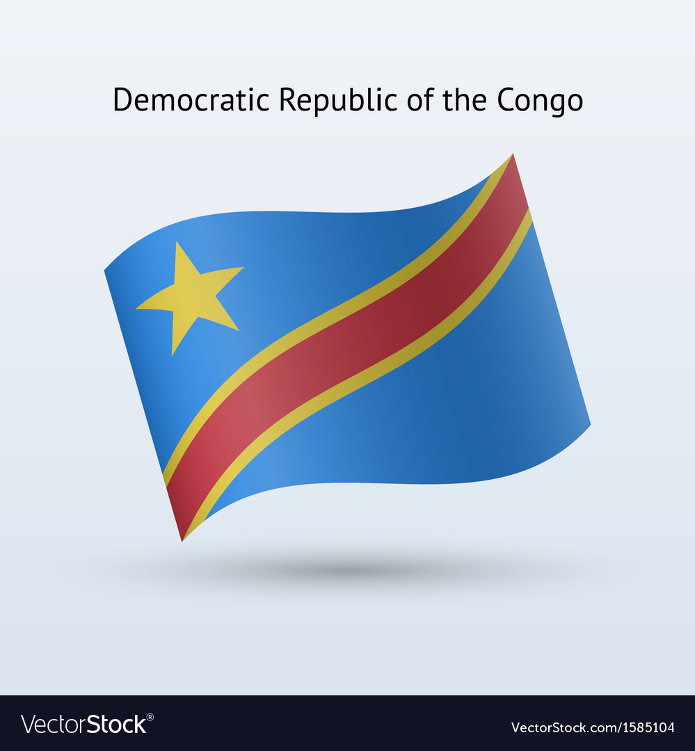 Democratic republic of the congo flag waving form vector | Price: 1 Credit (USD $1)