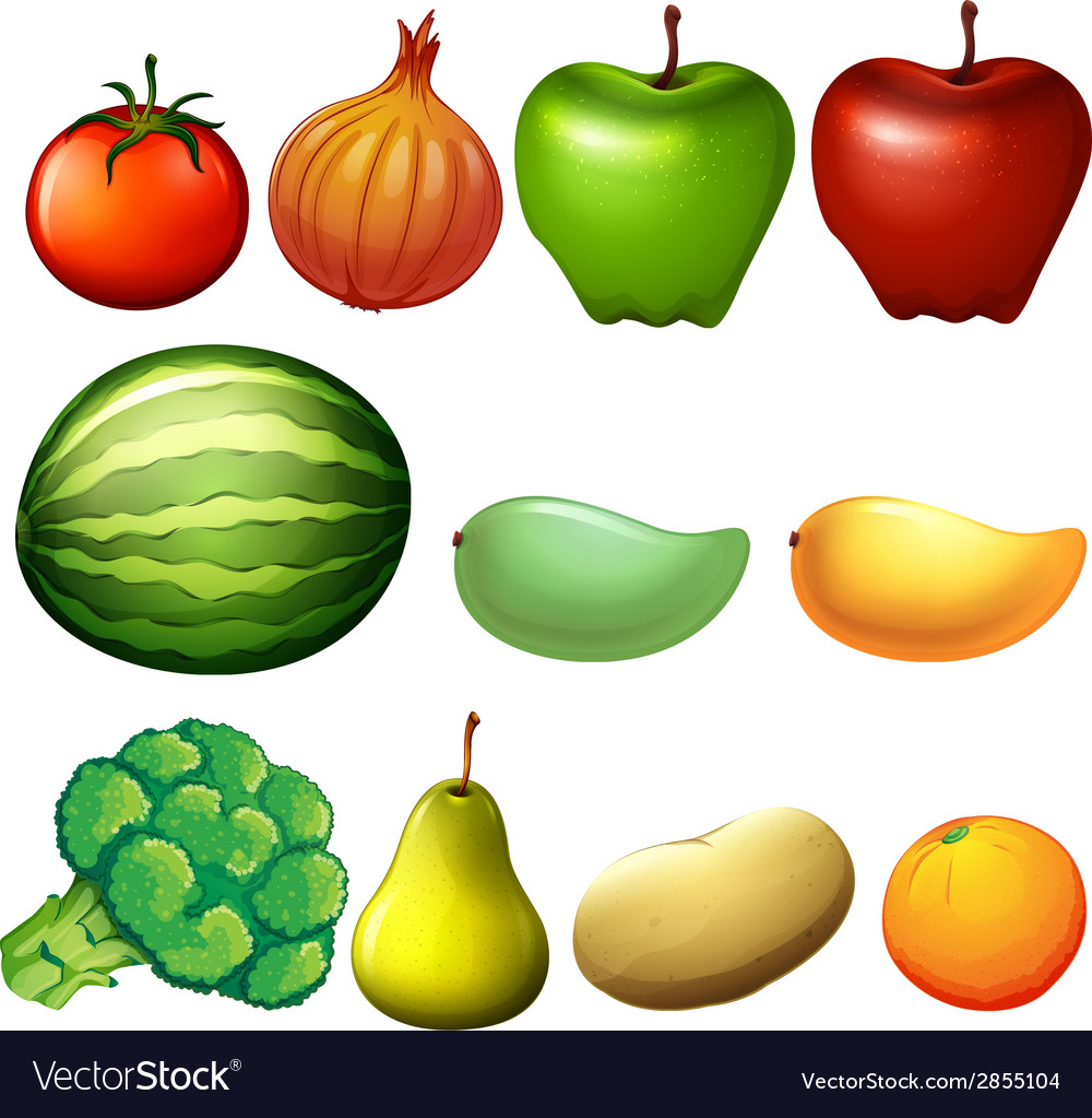 Different fruits vector | Price: 1 Credit (USD $1)