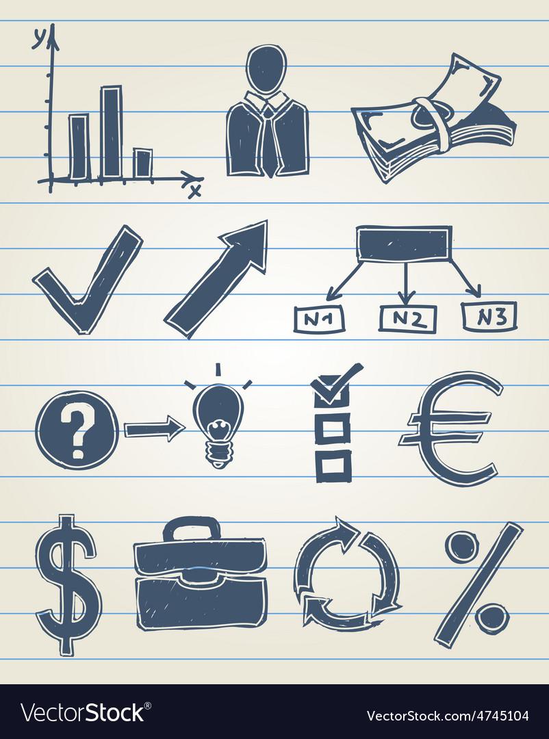 Finance doodle set vector | Price: 1 Credit (USD $1)