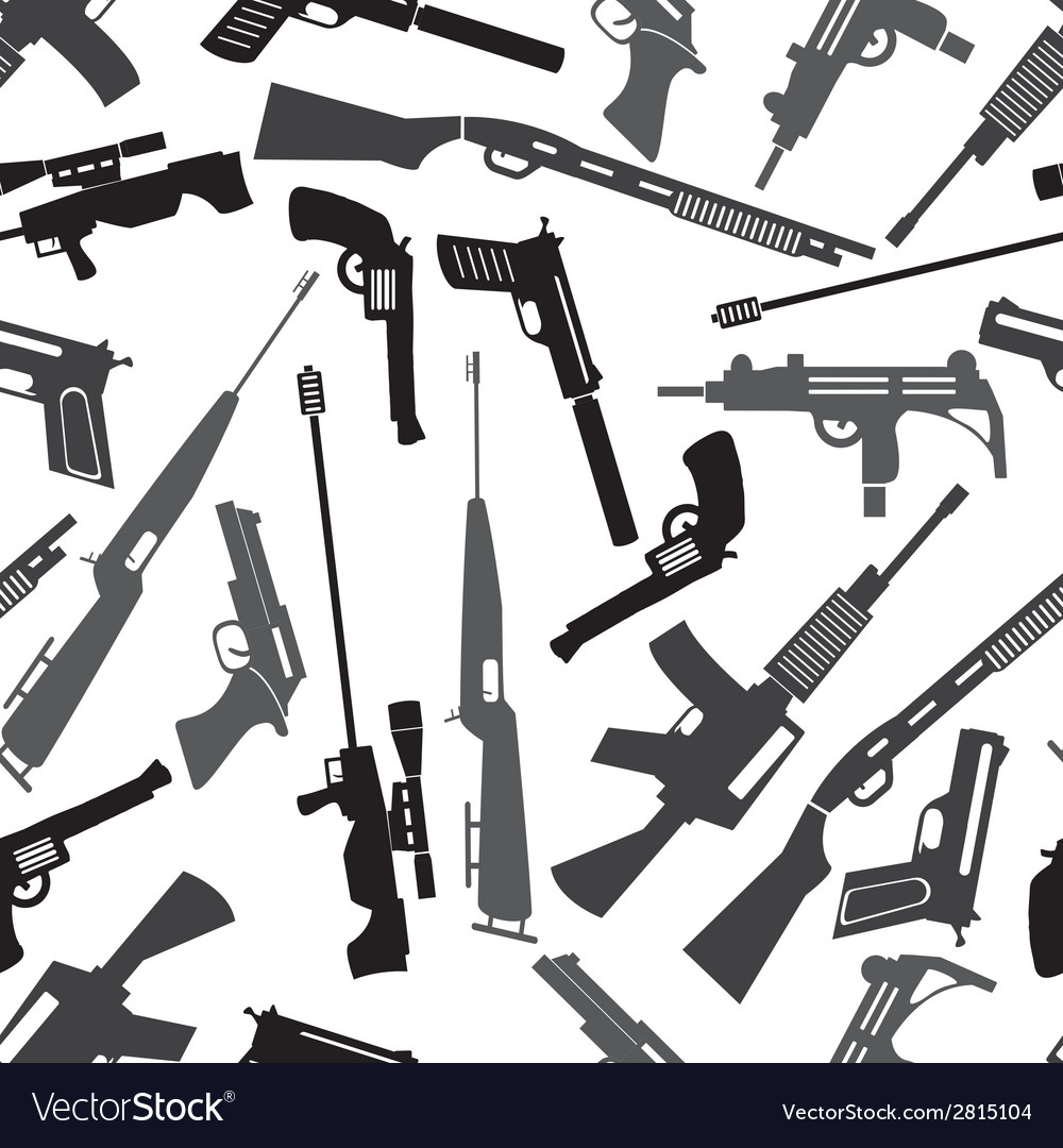 Firearms weapons and guns seamless pattern eps10 vector | Price: 1 Credit (USD $1)