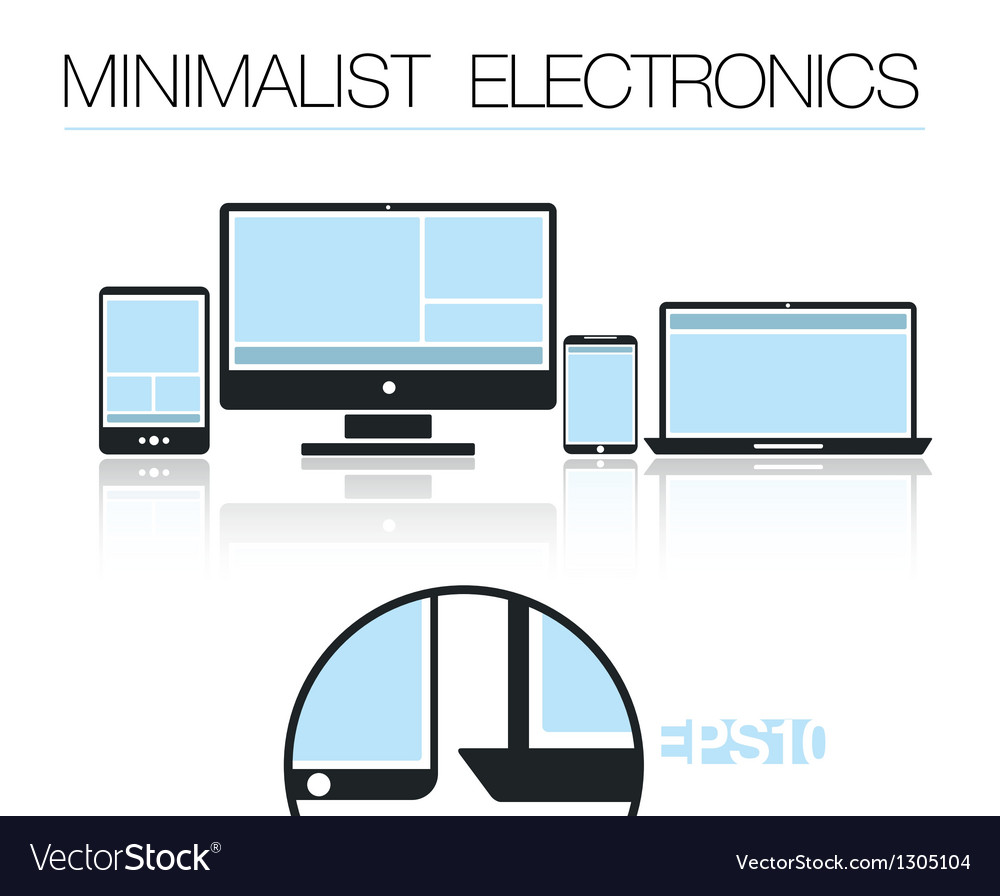 Minimalist electronic devices set vector | Price: 1 Credit (USD $1)