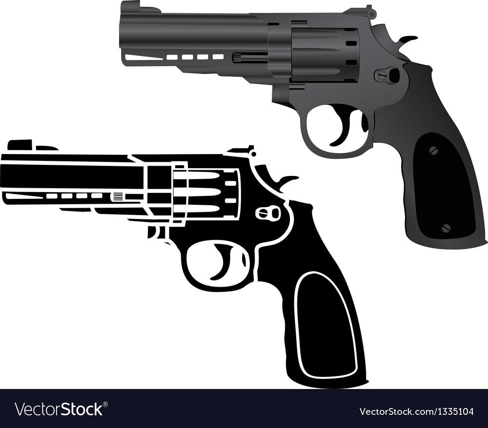 Two pistols vector | Price: 1 Credit (USD $1)