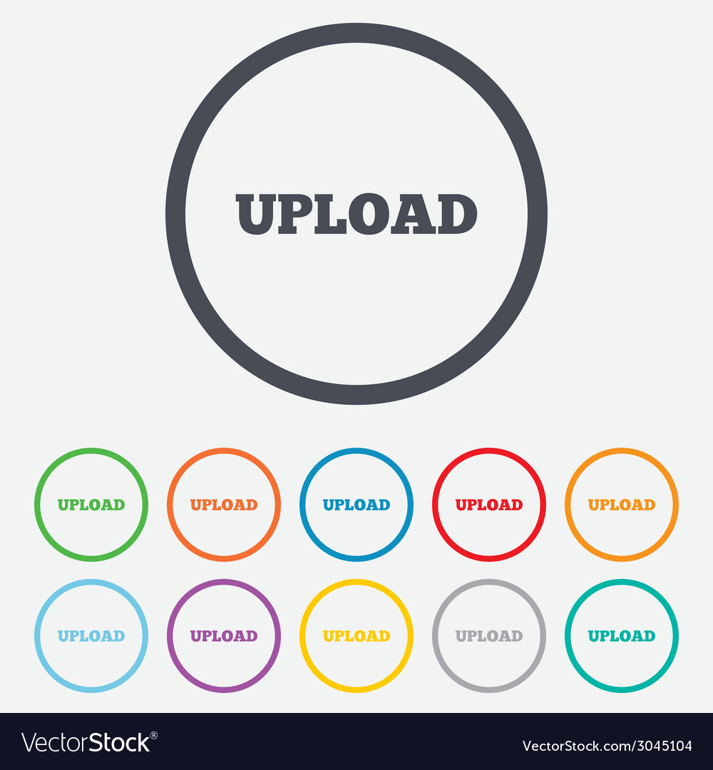 Upload sign icon load symbol vector | Price: 1 Credit (USD $1)