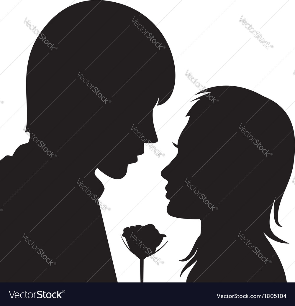 Young man and woman vector   Price: 1 Credit (USD $1)