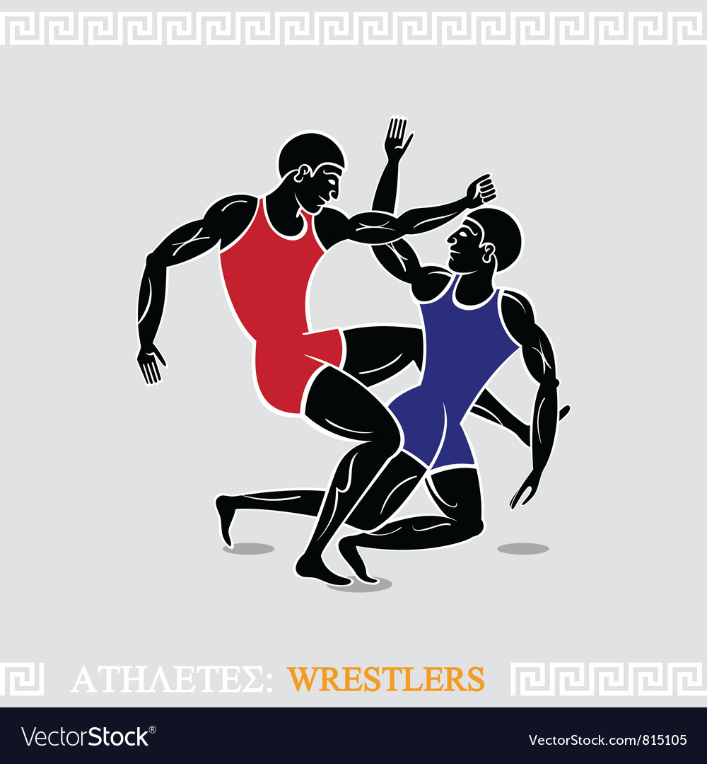 Athlete wrestlers vector | Price: 3 Credit (USD $3)