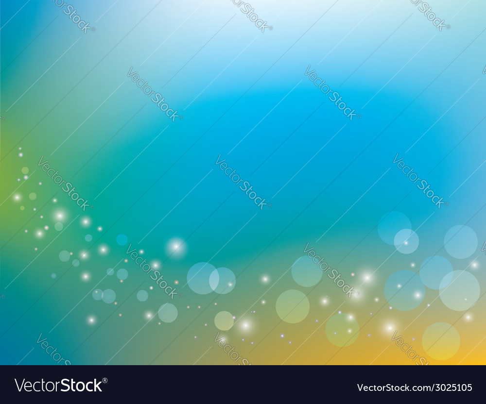 Blue and yellow background with bokeh vector | Price: 1 Credit (USD $1)
