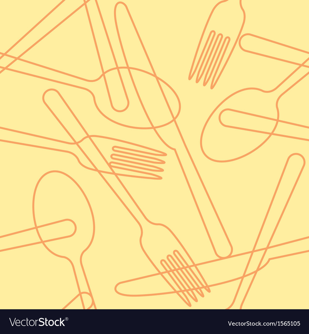 Cutlery pattern vector | Price: 1 Credit (USD $1)