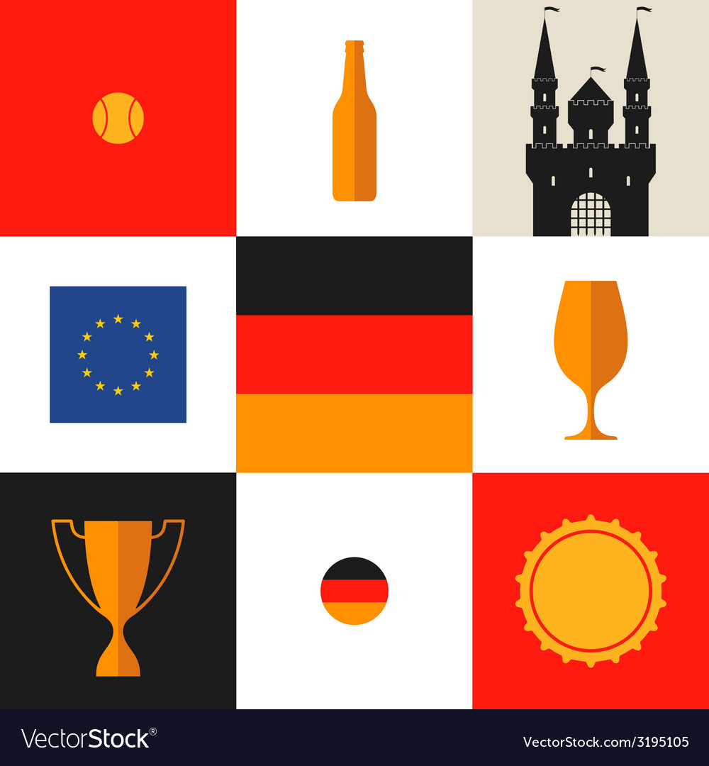 Germany icon set vector | Price: 1 Credit (USD $1)
