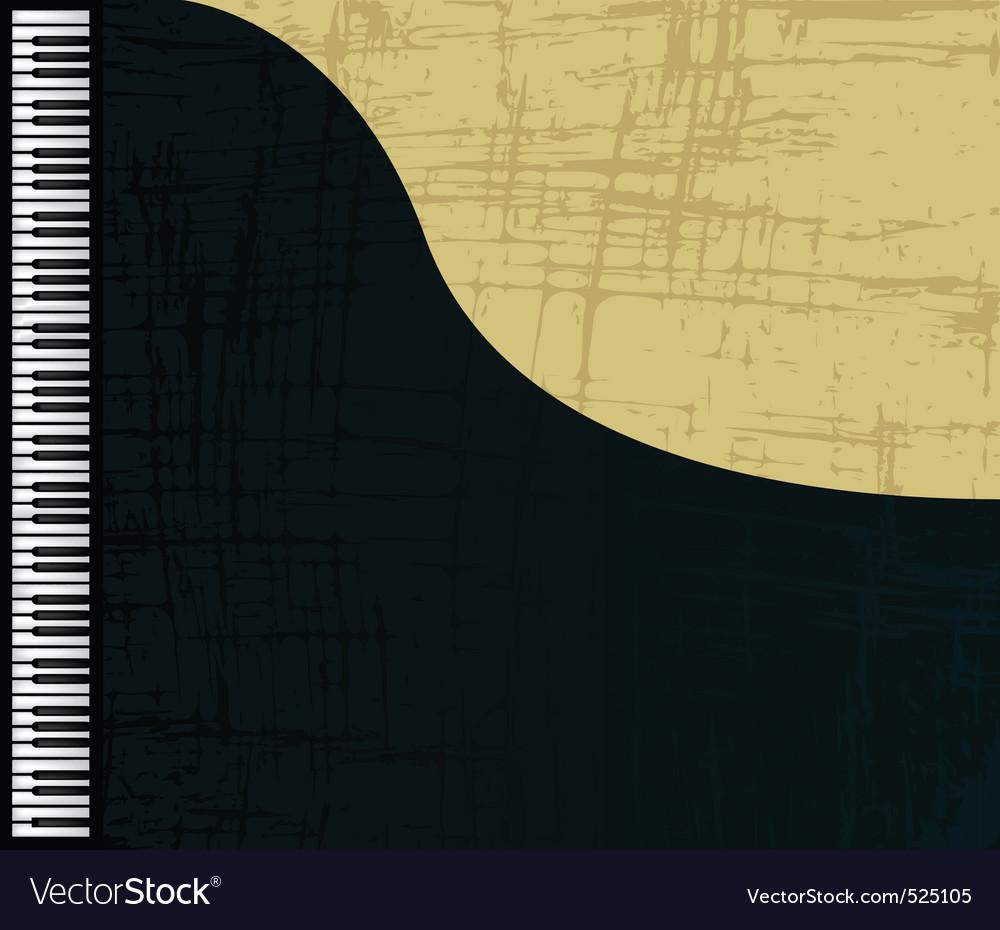 Grunge piano profile vector | Price: 1 Credit (USD $1)