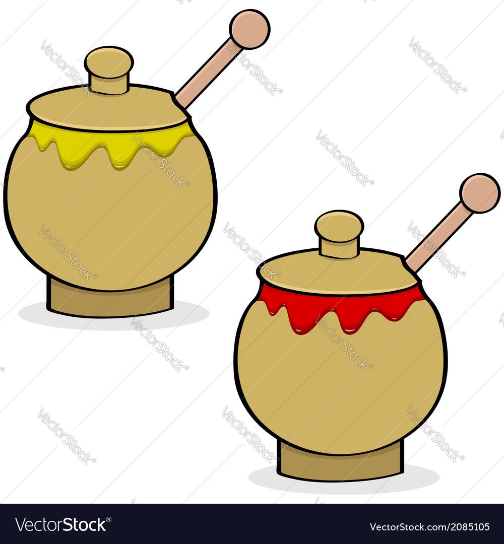 Mustard and ketchup vector | Price: 1 Credit (USD $1)