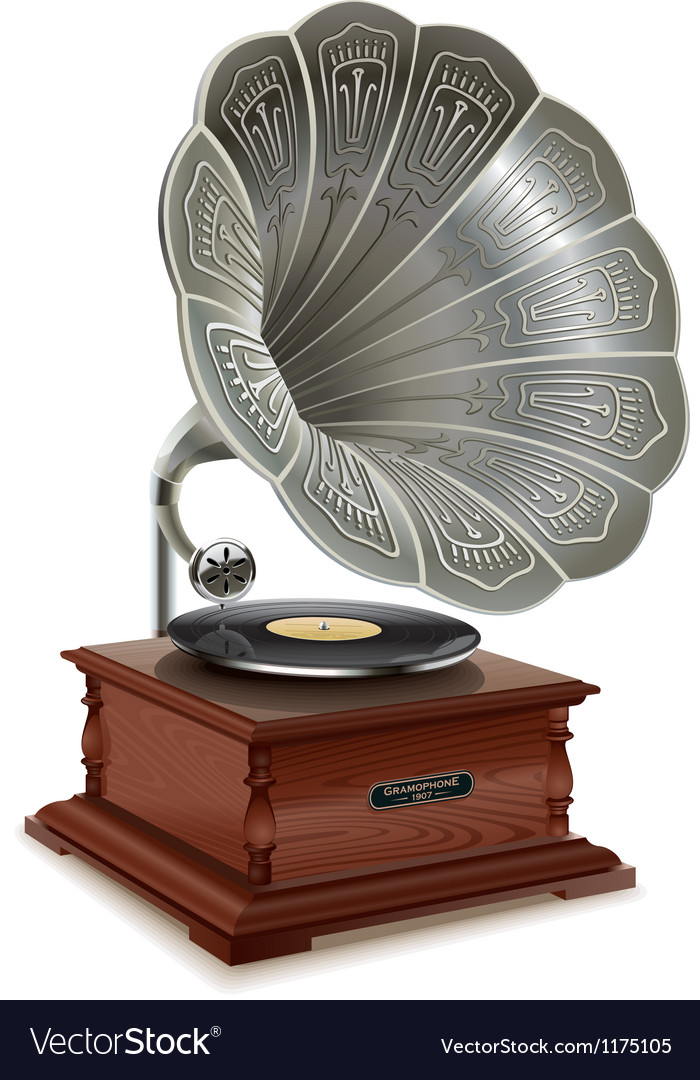 Old gramophone vector | Price: 3 Credit (USD $3)
