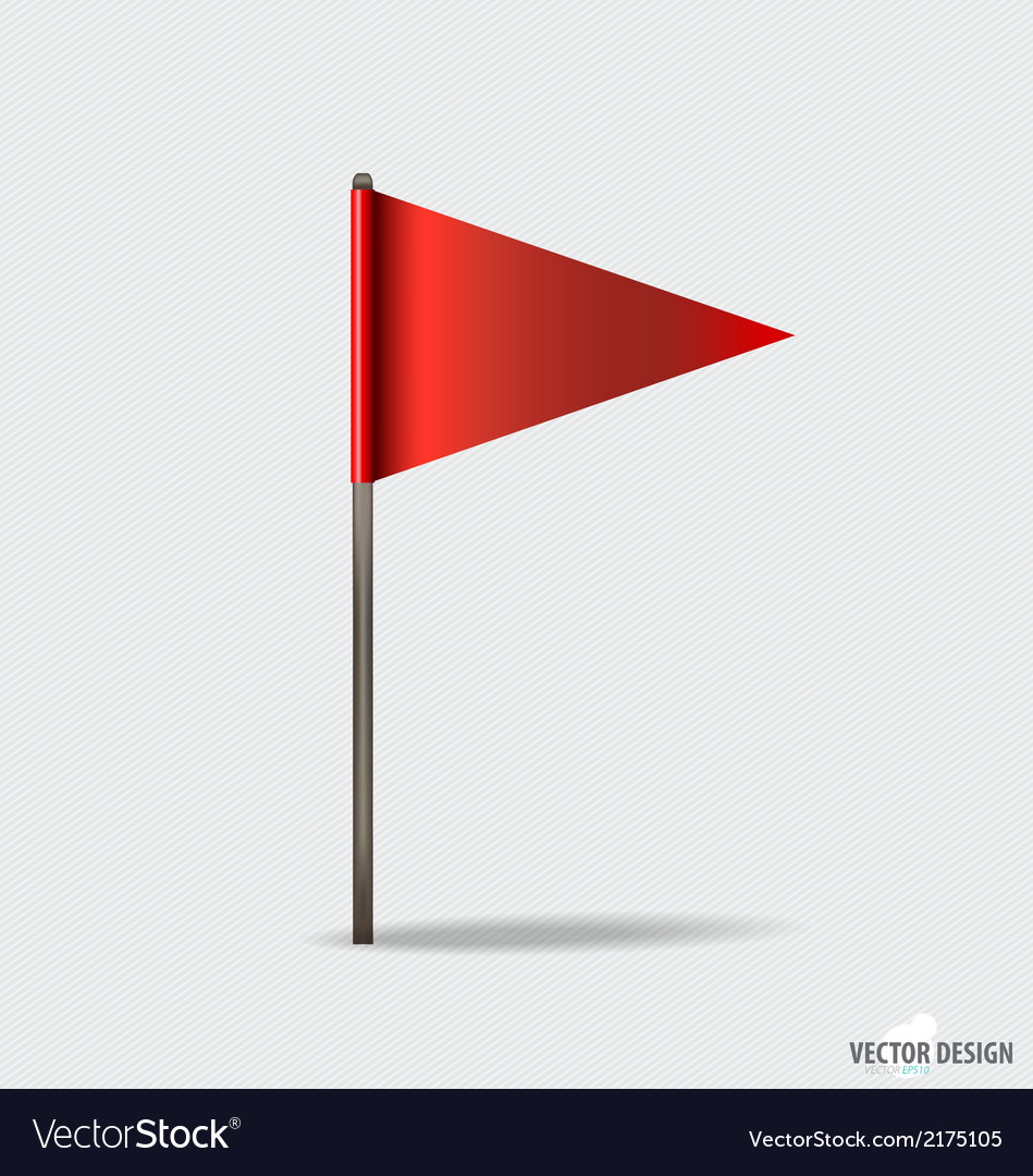 Red flags vector | Price: 1 Credit (USD $1)