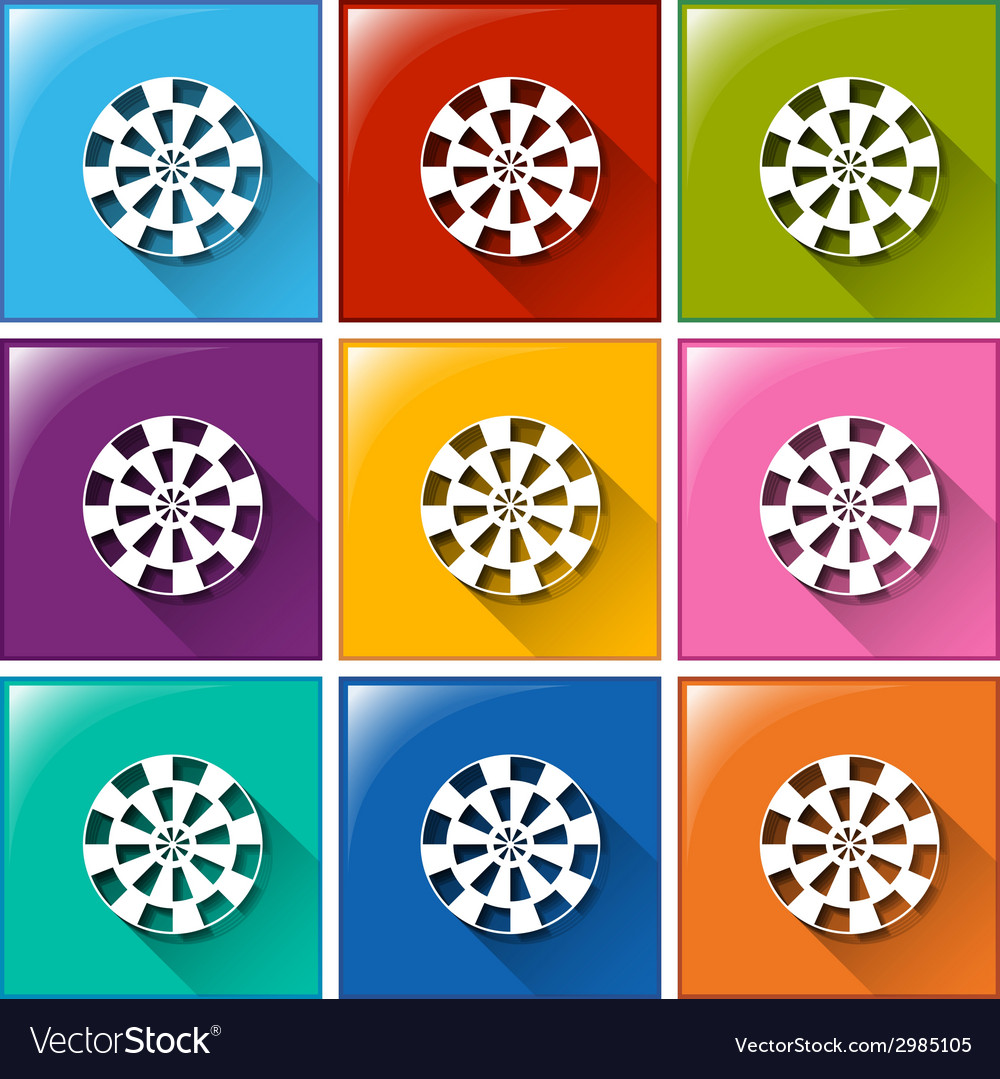 Target buttons vector | Price: 1 Credit (USD $1)