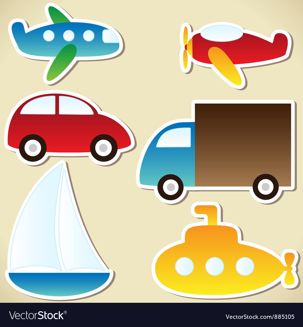 Transport set vector | Price: 1 Credit (USD $1)