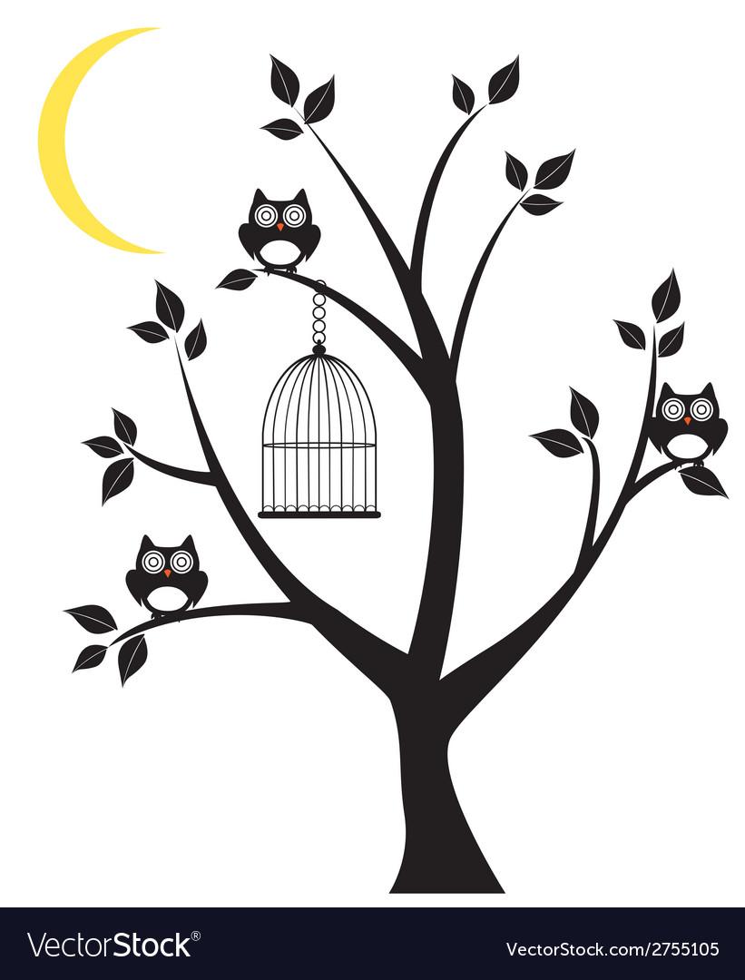 Tree owl vector | Price: 1 Credit (USD $1)
