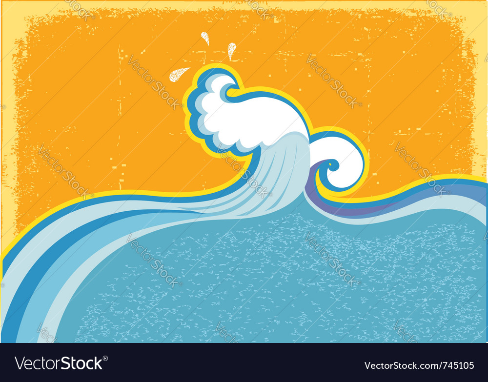 Wave in ocean vector