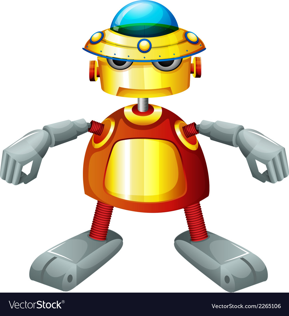 A colorful robot vector | Price: 1 Credit (USD $1)