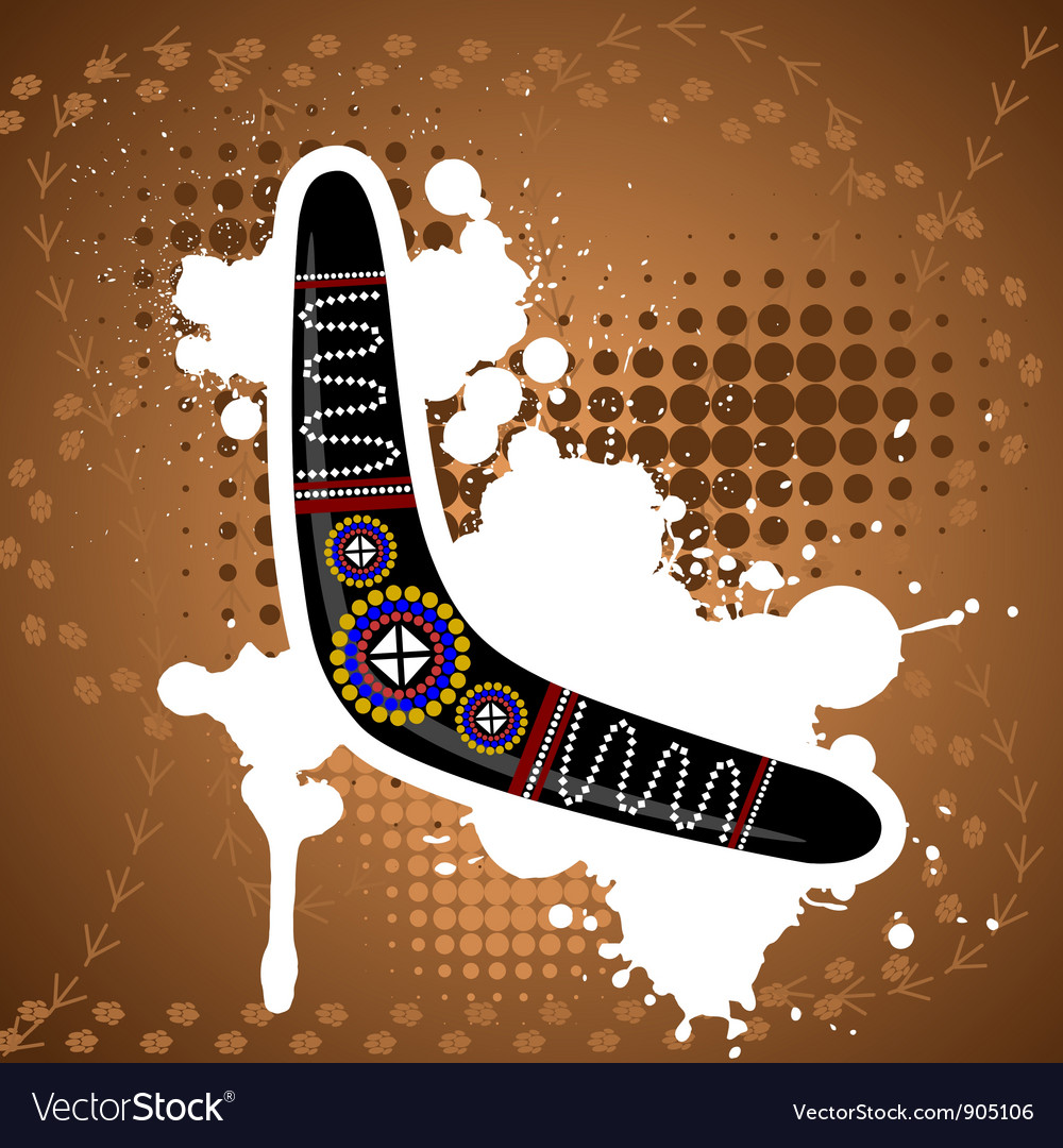 Abstract background with an australian boomerang vector | Price: 1 Credit (USD $1)