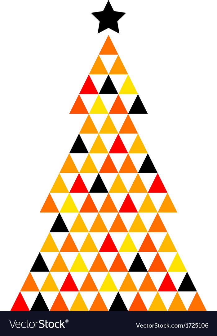 Colorful xmas mosaic tree isolated on white vector | Price: 1 Credit (USD $1)