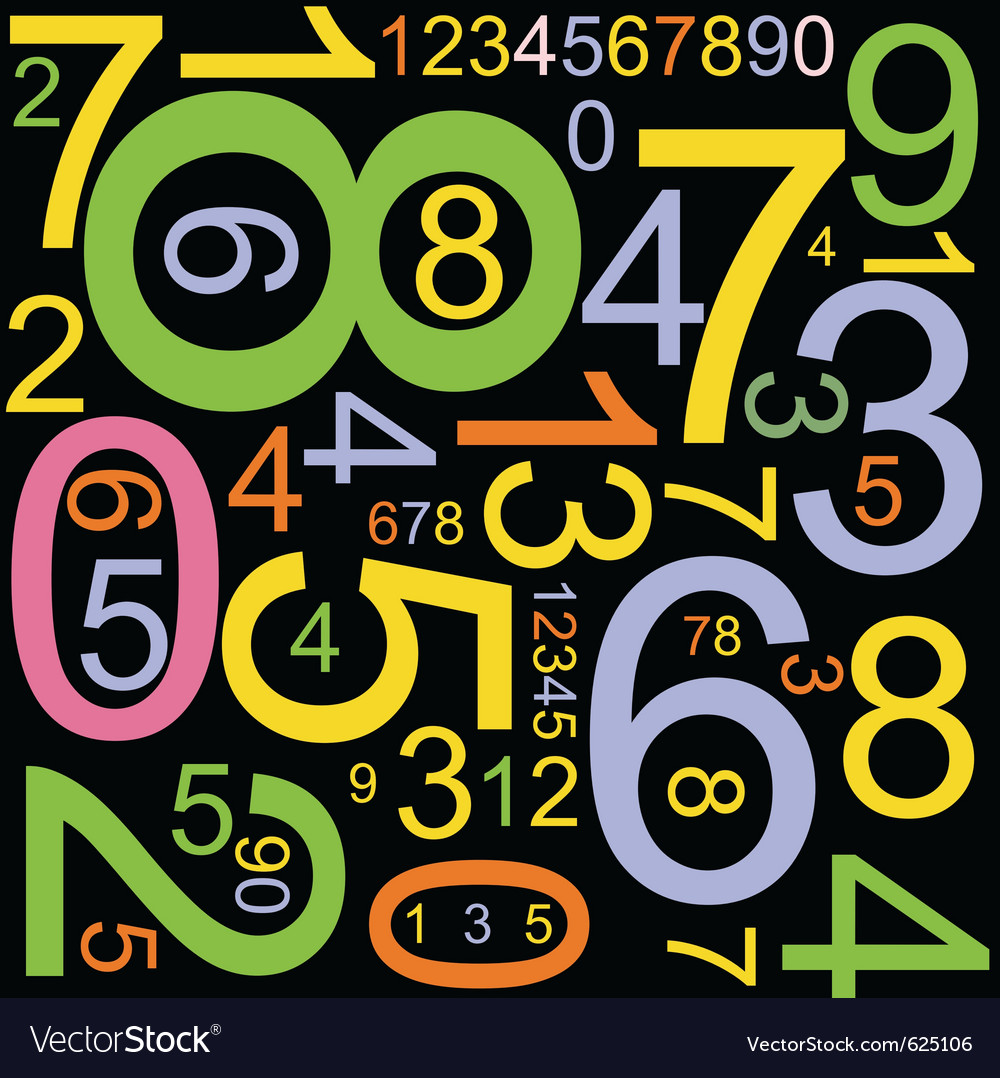 Colourful numbers vector | Price: 1 Credit (USD $1)