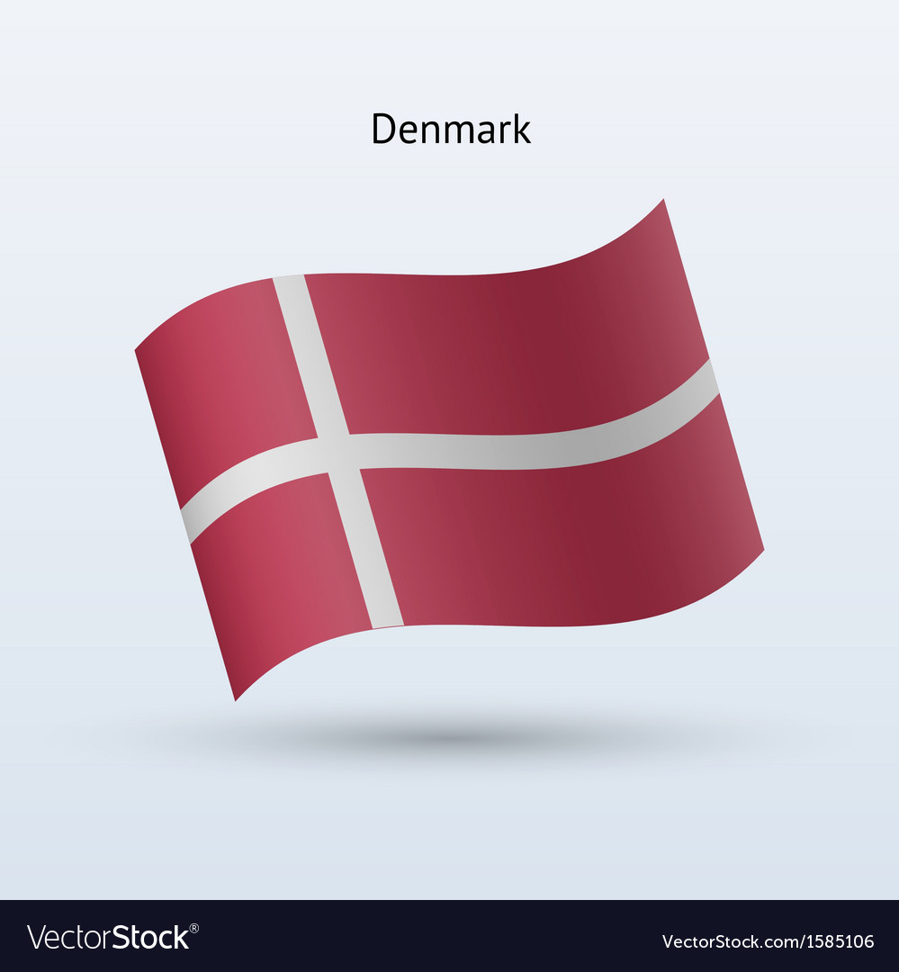 Denmark flag waving form vector | Price: 1 Credit (USD $1)