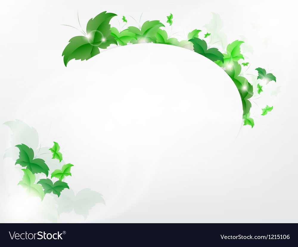 Environmental background with green leaf vector | Price: 1 Credit (USD $1)