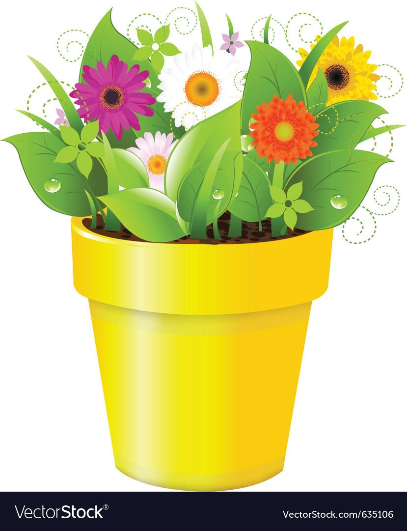 Flower pot vector | Price: 1 Credit (USD $1)