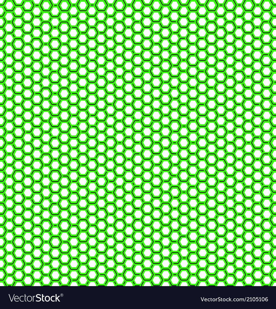 Honeycomb green pattern vector | Price: 1 Credit (USD $1)