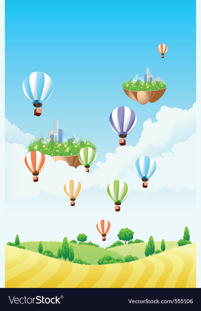 Hot air balloon vector | Price: 3 Credit (USD $3)