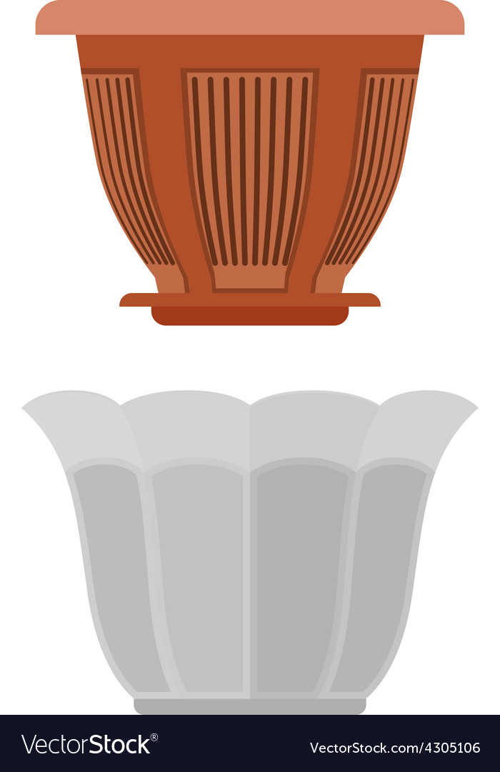 Pot for flowerpot flower vector | Price: 1 Credit (USD $1)