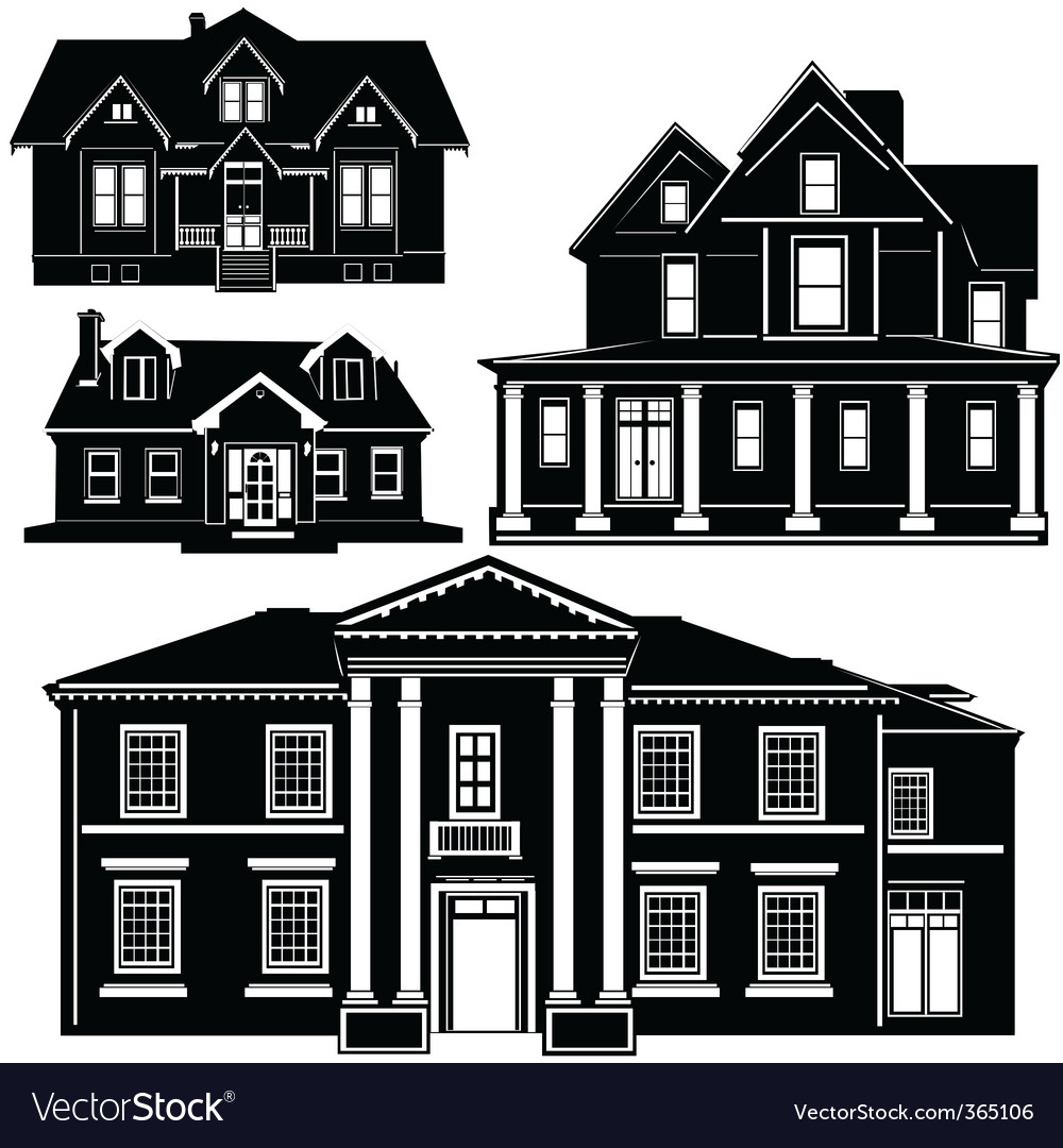 Residences vector | Price: 1 Credit (USD $1)