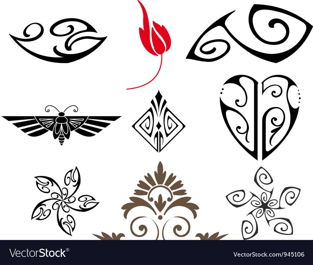 Retro ornaments vector | Price: 1 Credit (USD $1)