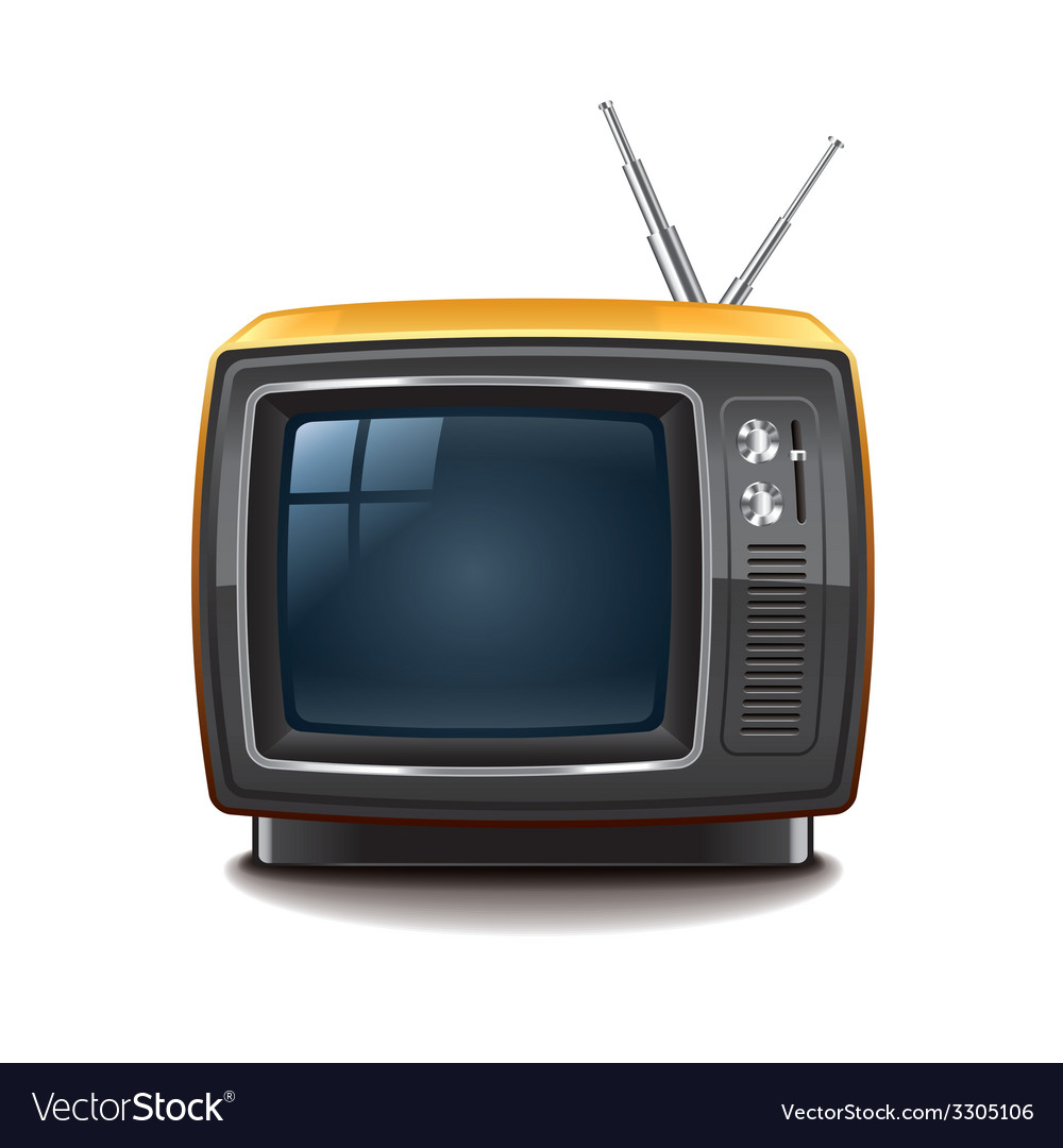 Retro tv isolated vector | Price: 3 Credit (USD $3)