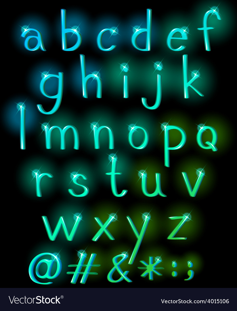 Sparkling letters of the alphabet vector | Price: 3 Credit (USD $3)