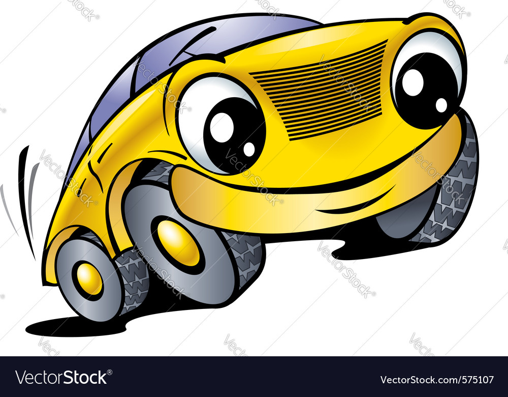 Cartoon car with smile vector | Price: 1 Credit (USD $1)