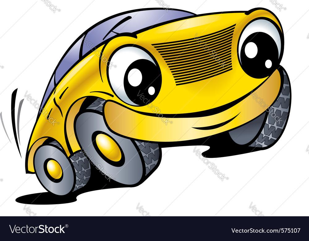 Cartoon car with smile vector | Price: 1 Credit (USD $1)