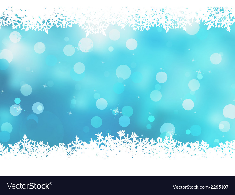 Christmas blue background with snow flakes eps 8 vector | Price: 1 Credit (USD $1)