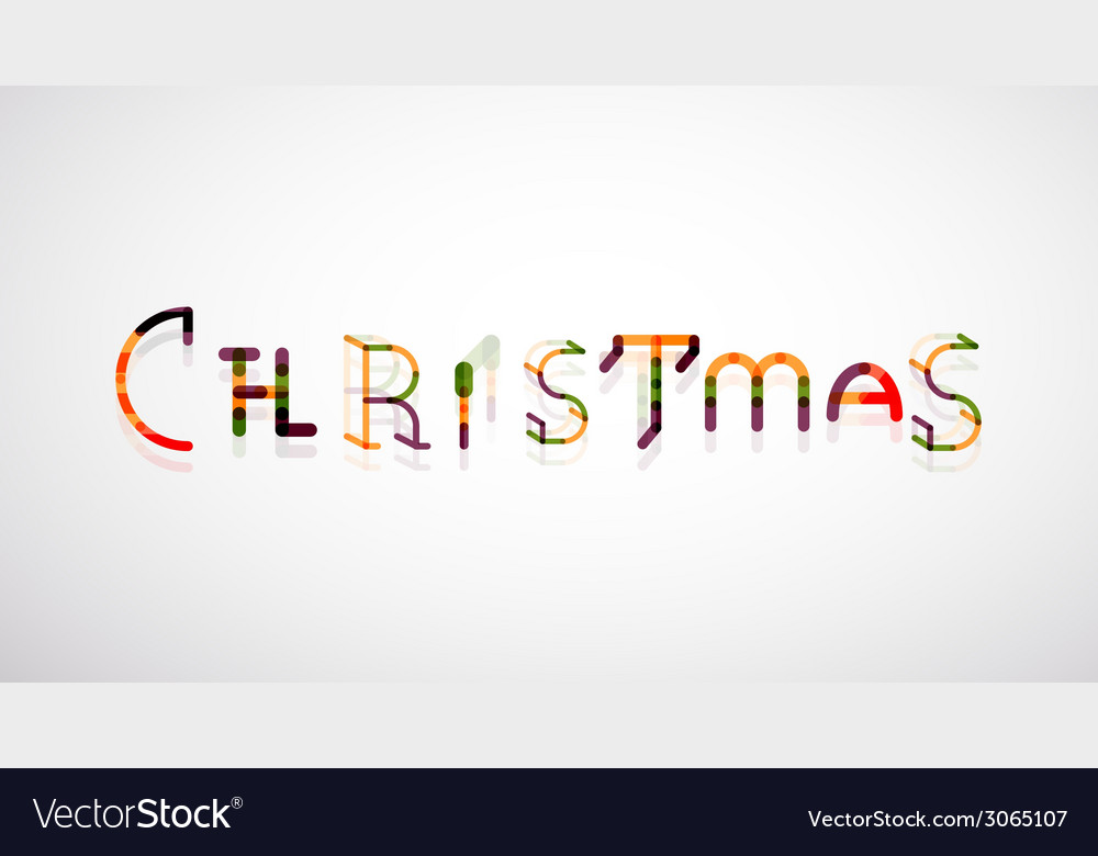 Christmas word concept font vector | Price: 1 Credit (USD $1)