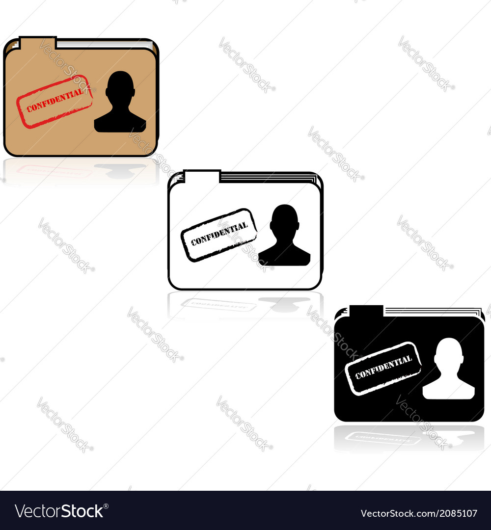 Confidential file vector | Price: 1 Credit (USD $1)