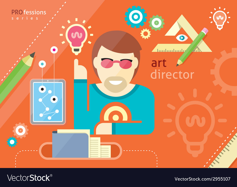 Creative people design occupations art direction vector | Price: 1 Credit (USD $1)