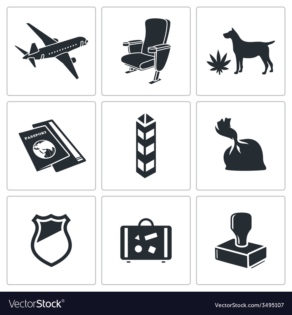 Drug trafficking icon set vector | Price: 1 Credit (USD $1)