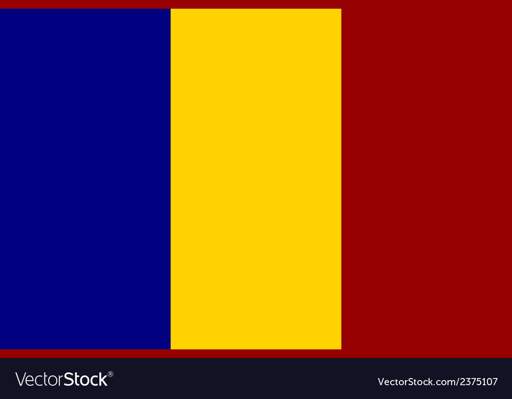 Flag of chad vector | Price: 1 Credit (USD $1)